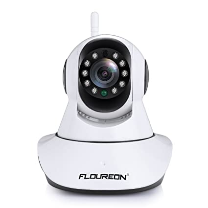 FLOUREON N5810HH 720P IP WLAN Surveillance P2P Pan/Tilt H 264 Onvif 2-Way  Audio Baby Monitor Night Vision CCTV Security Camera IP Cam Motion Detector
