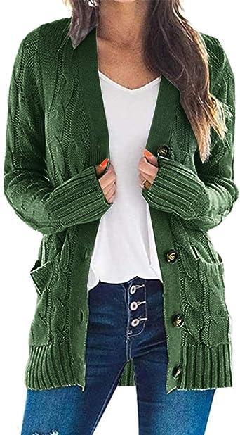 UK New Womens Ladies Warm Long Sleeve Zipper Button Cardigan Jacket Coat Outwear