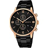 Fashion Sport Luxury Quartz Military Stainless Steel Dial Leather Band Wrist Watch,Outsta Round Case Wristwatch Hot!!!