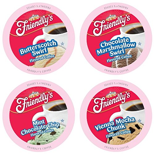 (20 Count Friendly's Variety Coffee 2.0 Flavored including Mint Chocolate Chip, Butterscotch Swirl, Vienna Mocha Fudge and Chocolate Marshmallow Swirl (4 FLAVORS) (4 FLAVORS))