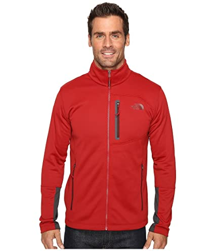 9e801e70a Amazon.com : The North Face Canyonlands Full Zip Sweatshirt Cardinal ...