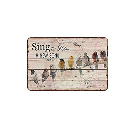 Fluse Birds Sing Song Vintage Metal Art Chic Retro Metal ...