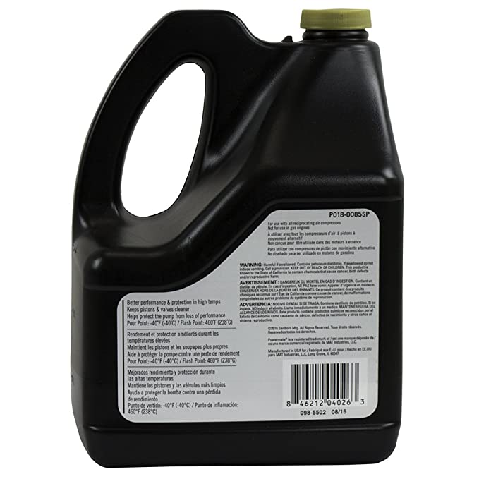 Powermate Px P018-0085SP 100% Full Synthetic Air Compressor Oil, - - Amazon.com