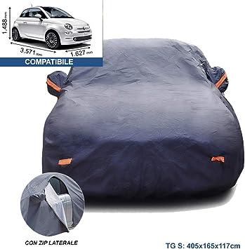 Resistente ai Raggi UV Copri Auto Cappotta AntiGraffio//Qualsiasi Stagione Car Cover Copertura Auto Protettiva Compatibile con Fiat 595 Abarth Telo Copriauto Protezione Impermeabile