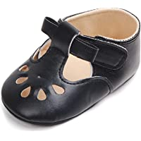 Baby Girls Mary Jane Flats Dress Shoes Toddler First Walkers Soft Sole Crib Shoes
