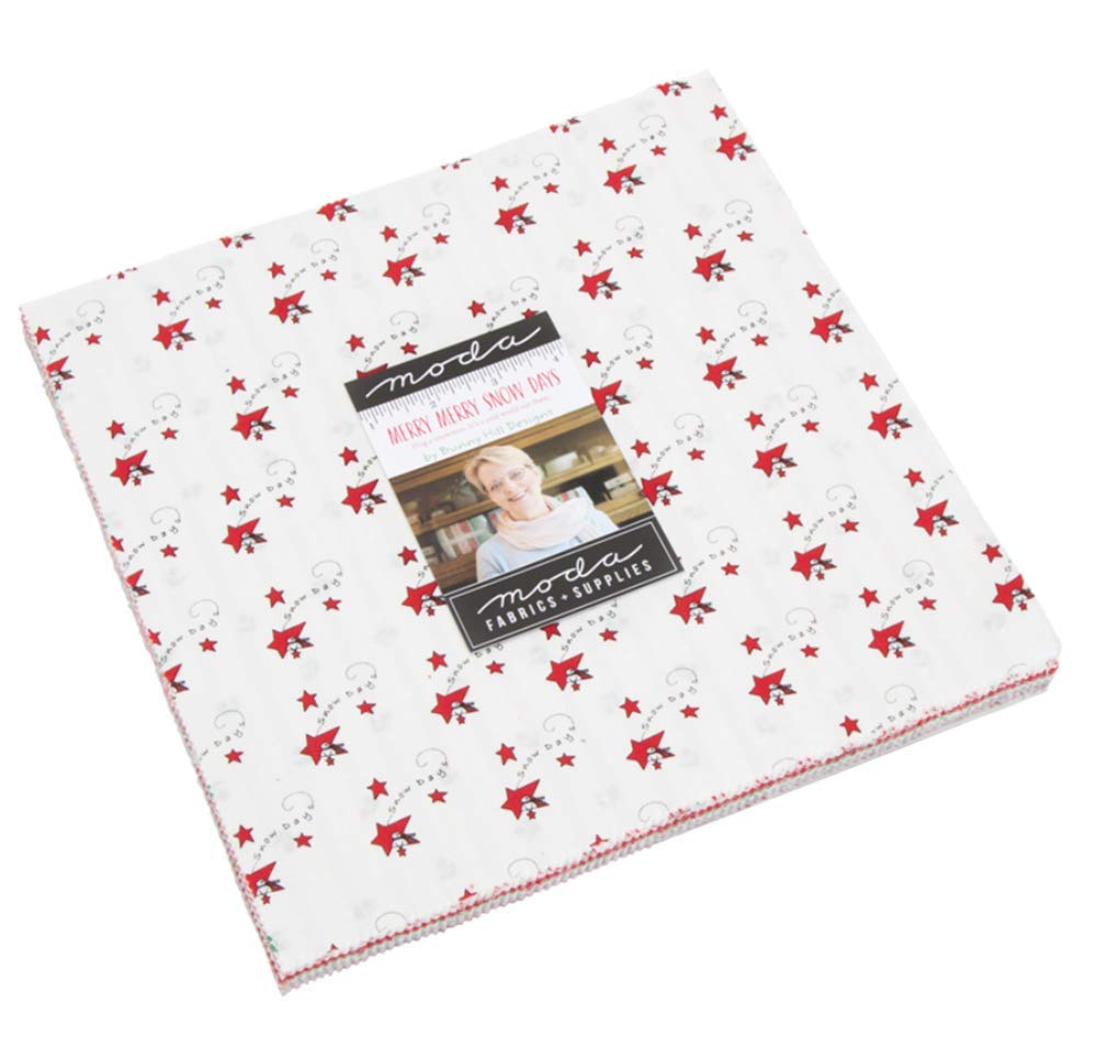 42-10 inch Precut Fabric Quilt Squares by Bunny Hill Designs for Moda Fabrics 2940LC Merry Merry Snow Days Layer Cake