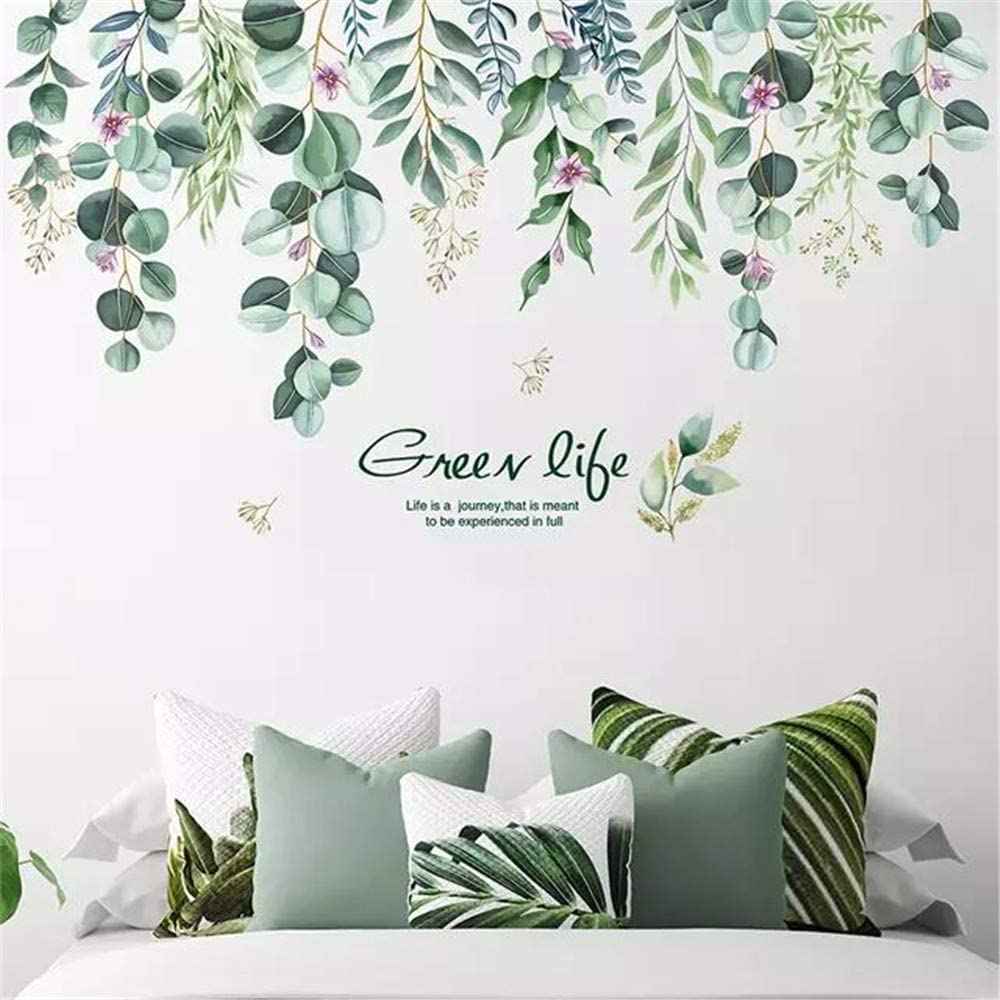 LLYDD Leaf Wall Sticker Tree Leaves Wall Stickers Decal Art Decor Peel and Stick Self - Adhesive for Living Room Bedroom Kitchen Playroom Nursery Room