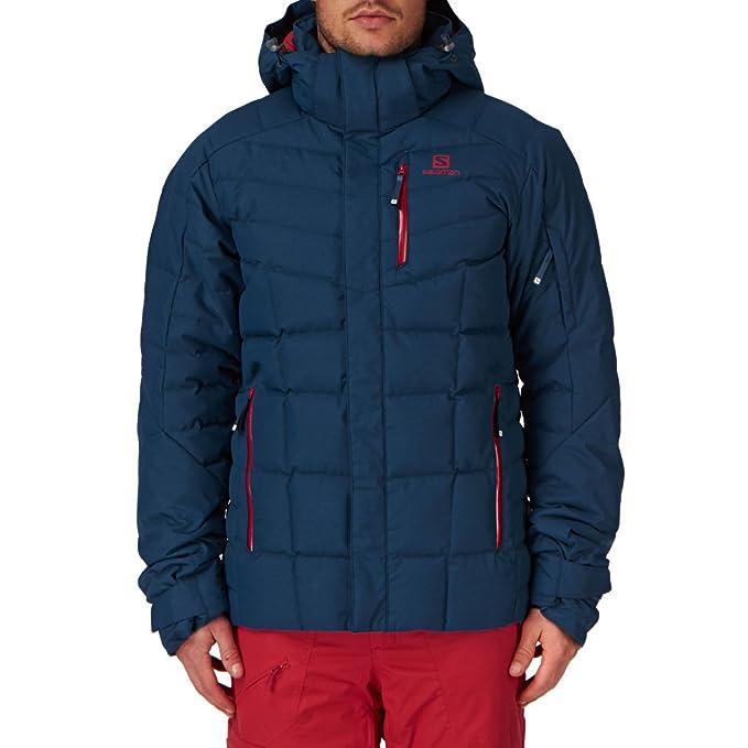 Salomon nieve chaquetas - Salomon Icetown nieve Jac..., Hombre, color azul oscuro, tamaño Small: Amazon.es: Ropa y accesorios