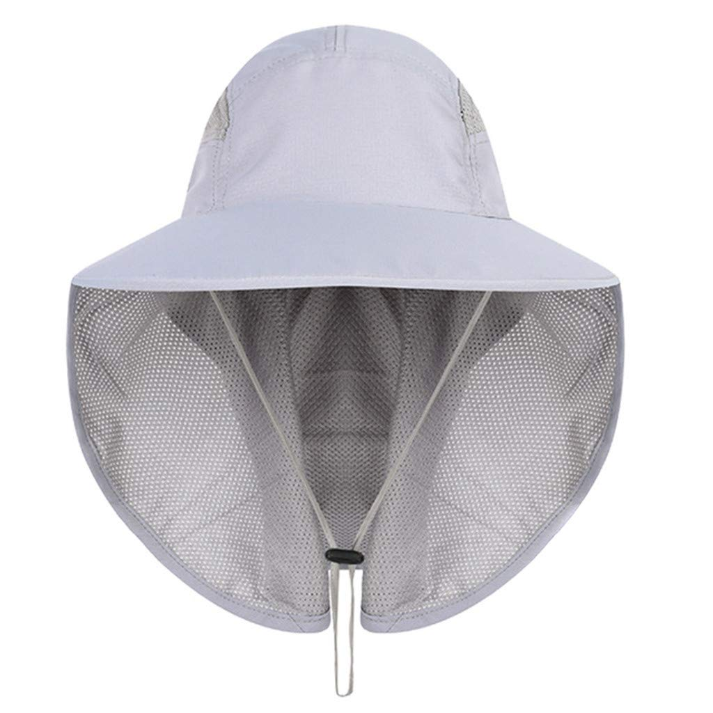 543f197f Amazon.com : Feitengtd Sun Hat Sports Outdoor Sun Protection Camping Fishing  Hat Wide Brim Face Flap Cover Cap (Khaki, Free) : Sports & Outdoors