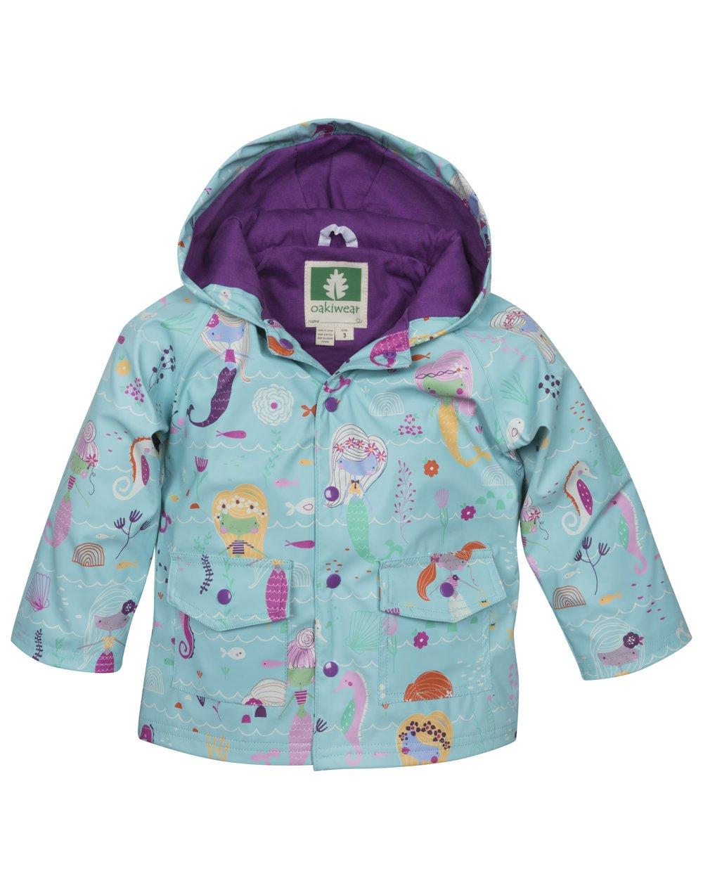 OAKI Children's Rain Jacket, Mermaids 2T Toddler by OAKI