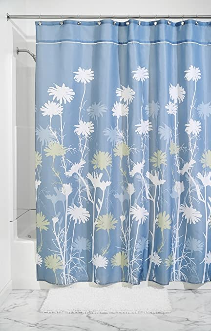 Amazon.com: mDesign Daisy Fabric Shower Curtain - Long, 72\
