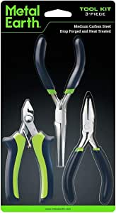 Metal Earth 3-Piece Tool Set - Clipper - Flat Nose Pliers - Needle Nose Pliers