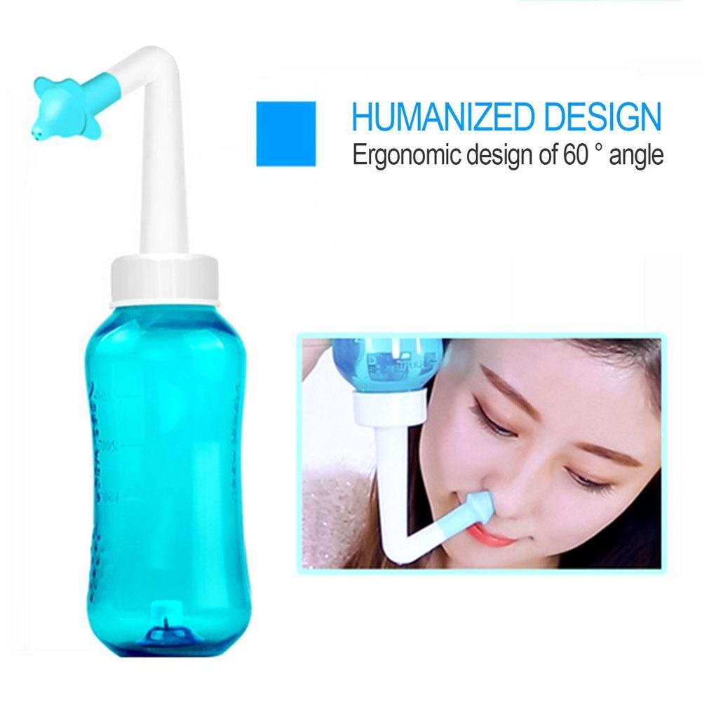 Nasal Wash,300ml Nasal Irrigation Nose Cleaner,Sinus Allergies Nasal Pressure Nose Health Care Nasal Cleaner for Kid Adult Greencolorful