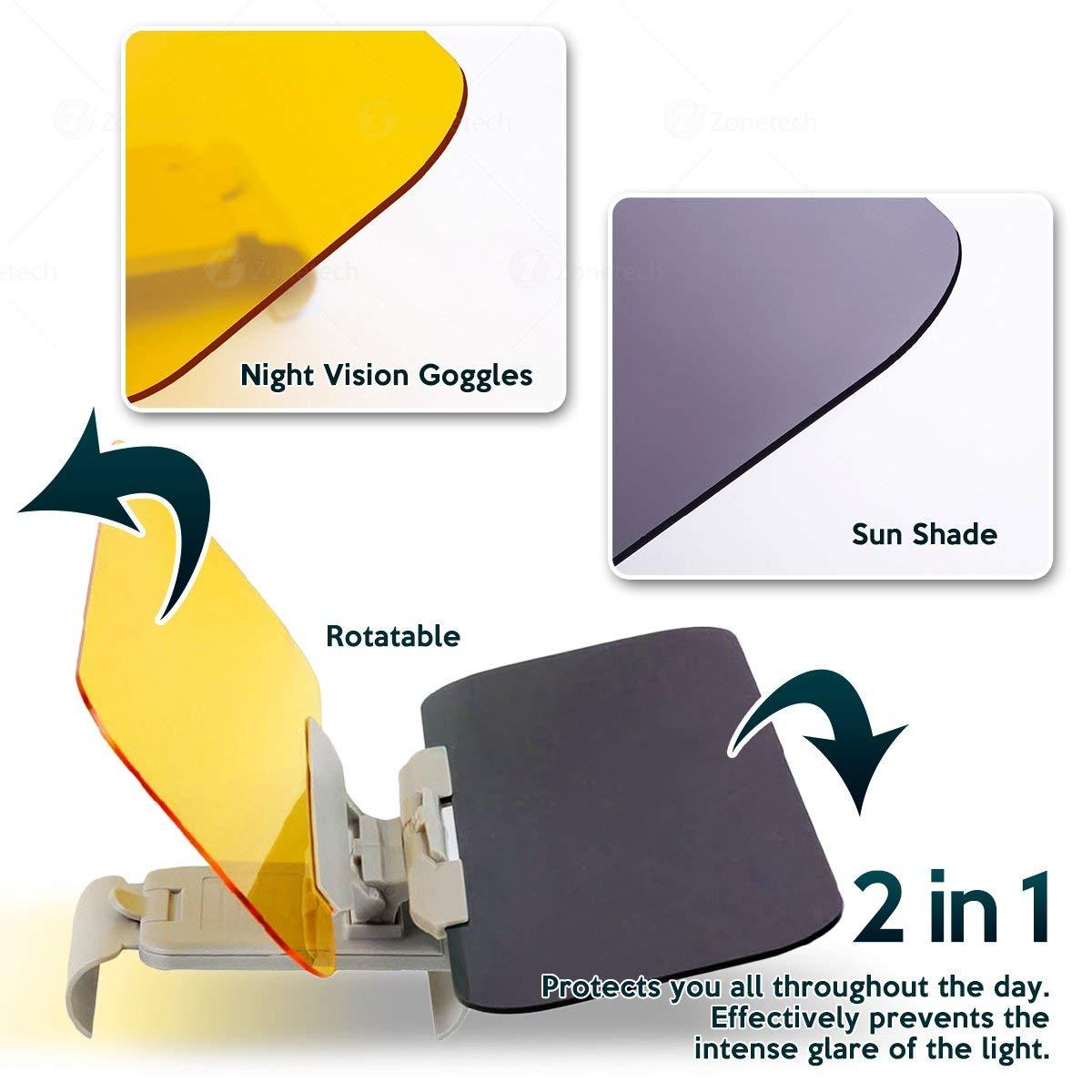 Universal Sun Visors Auto Anti-Glare Goggle Cover UV Protection Sun Sheild for Cars Anti-dazzle multifunction mirror Day and Night