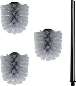 10x Ersatz Bürstenkopf schwarz 2x Griff 26cm Austausch Toilettenbürste Klobürste