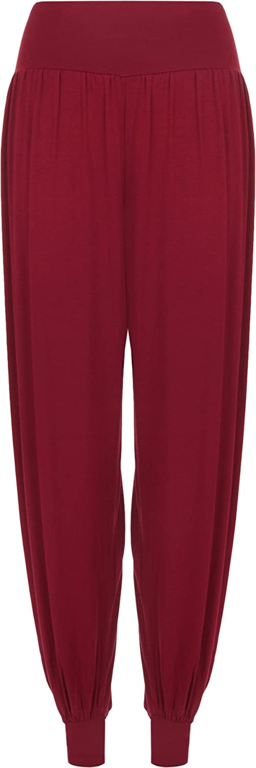 Ladies Plus Size Harem Trousers Womens Full Length Stretch Casual Pants Sizes 12-26 WearAll 23804