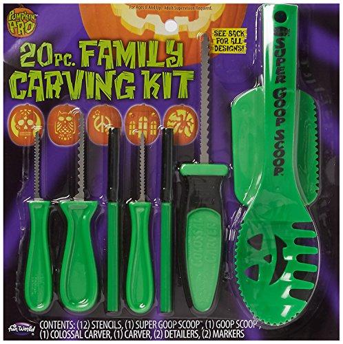 20 Piece Family Pumpkin Carving Kit Standard