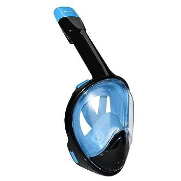 Hicool Máscara de Buceo, 180 Grados de Vision Mascara de Buceo con Diseño de Cara