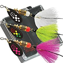 Mepps Black Fury Dressed Trout Fishing Lure Pocket Pack