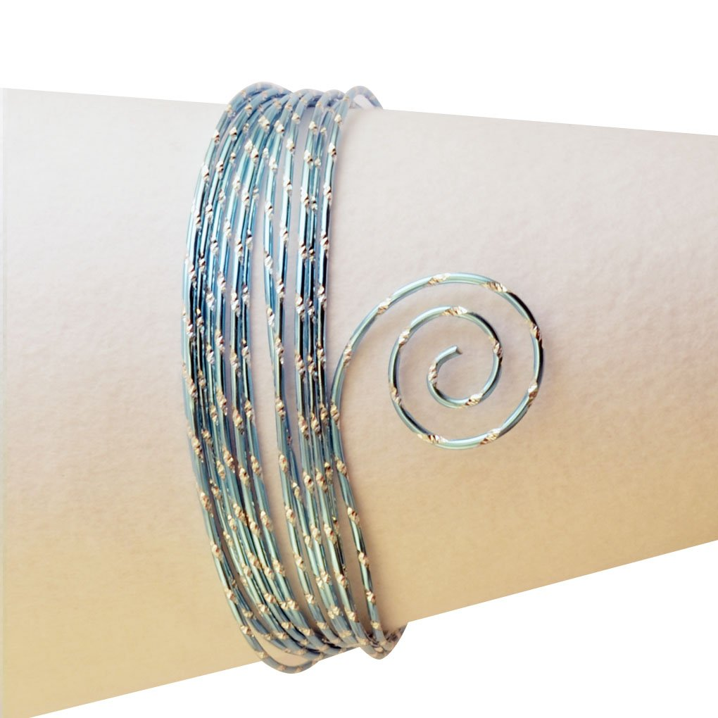 Vaessen Creative 2 mm x 5 m Aluminium Wire Diamond Cut, Ice Blue 24245-021