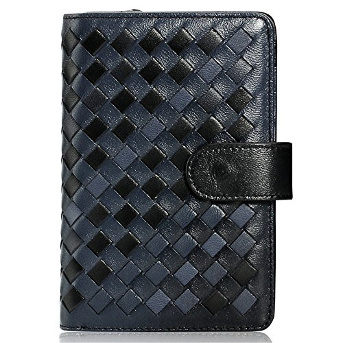 (GSCshoe The First Layer Suede Plaid Wallet For Men And Women General Light Hand Bag Card Bag Zero Wallet Practical Wear-resisting (Color : Black))