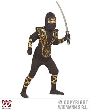 Prezer Ninja - Disfraz Infantil de dragón en 3D, Color Negro ...