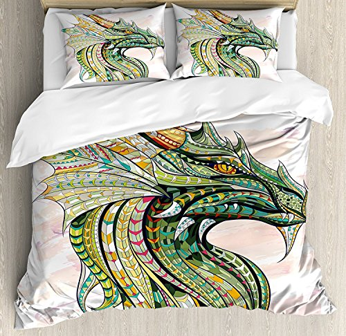 Celtic Bedding Sets, Head of Legend Dragon with