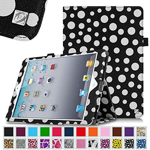 Fintie Folio Case for Apple iPad 4th Generation with Retina Display, iPad 3 & iPad 2 Vegan Leather Stand with Smart Cover Auto Wake / Sleep - Polka Dot Black/White