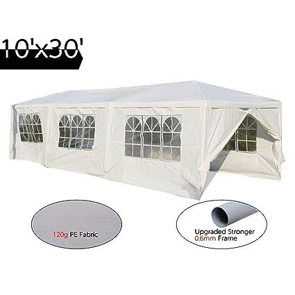 Peaktop 10u0027x30u0027 Heavy Duty Outdoor Party Wedding Tent Canopy Gazebo Storage  Shelter Pavilion