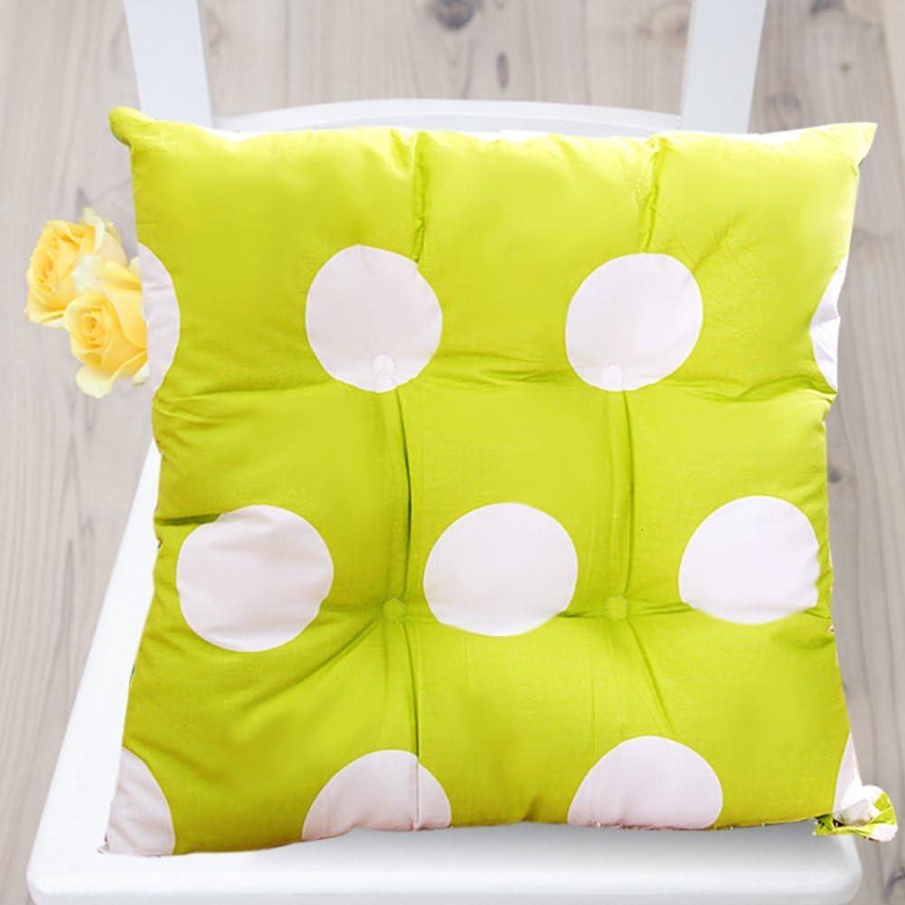 JRG Pastoral Fabric Chair Pads Non-Slip European Dining Seat Cushion Autumn Winter Cushion Seat Cushion Seasons Floor Quilting Chair Cushion Thickened Office pad-A 43x43cm