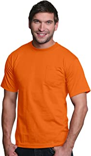product image for 5060 Bayside Men's Long-Sleeve Cotton Tee Crew Neck T Shirt S Orange