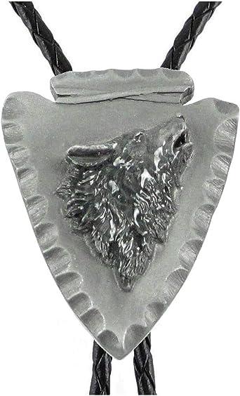Arrowhead Bolo Sculpted Pewter Bolo