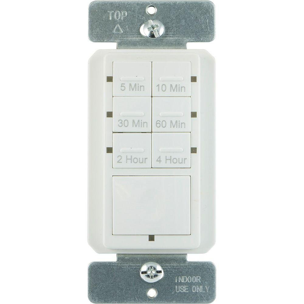 15 Amp 4-Hour Countdown In-Wall Timer with Ground Terminal