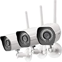 $89 Get Zmodo Wireless Security Camera System 3 Pack, Smart Home HD Indoor Outdoor WiFi IP Cameras…