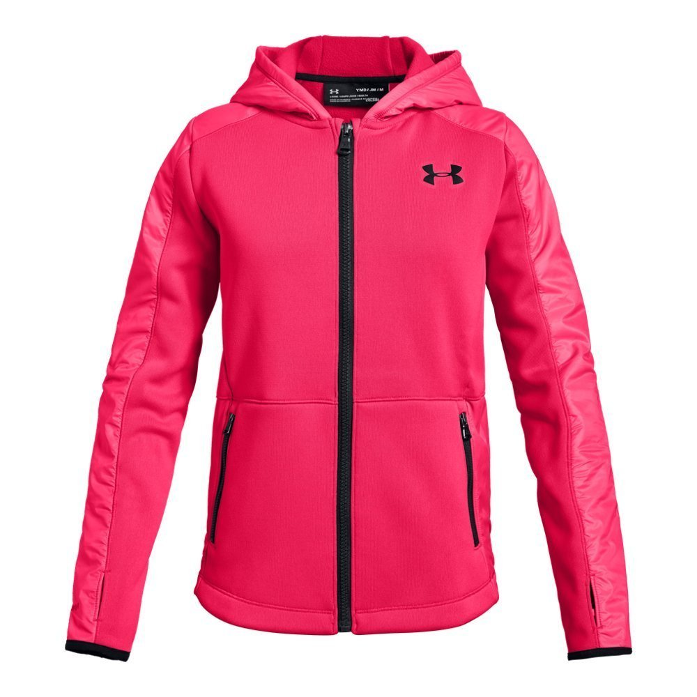 Under Armour Girls Swacket, Penta Pink (975)/Black, Youth X-Large by Under Armour