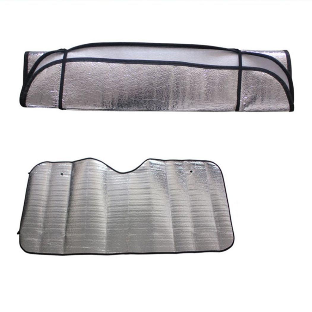 Quaant Car sun shade, 1Pc Casual Foldable Car Windshield Visor Cover Front Rear Block Window Sun Shade Car-styling Sunshade Auto (silver)