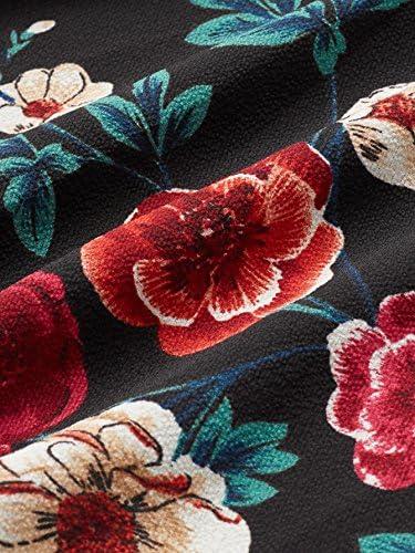 Romwe Women's Plus Size Floral Print Short/Long Sleeve Belt Tie Peplum Wrap Blouse Top Shirts
