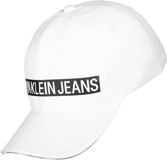 Calvin Klein J Logo Tape Cap W Gorra de béisbol para Mujer: Amazon ...