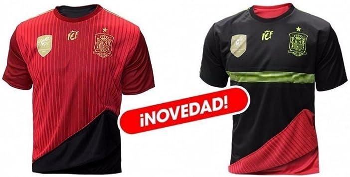 Selección Española de Fútbol. Camiseta Oficial Reversible. 2 en 1. (M): Amazon.es: Ropa y accesorios