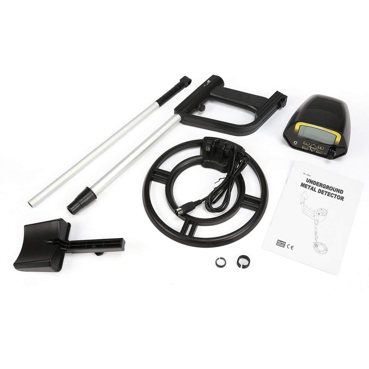UniqueHeart MD4060 Mini Detector de Metales Subterráneo Portátil Profesional Cazador de Tesoros de Mano Buscador de Caza de Oro Longitud Ajustable: ...