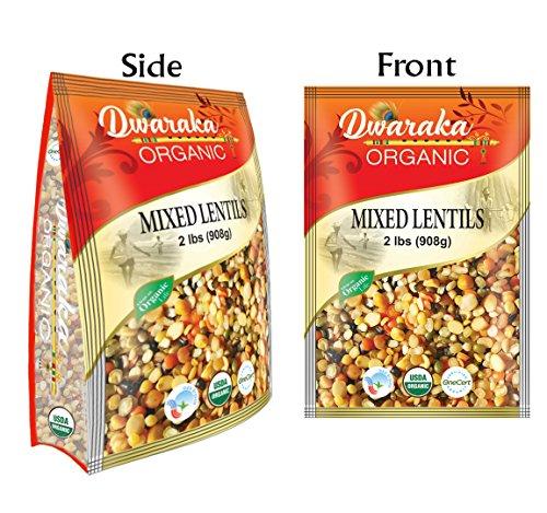- Dwaraka Organic Mix Dal Lentil - USDA Organic (2 lbs / 908 g)