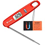Meat Thermometers, Habor UPGRADE Instant Read Thermometer Magnetic Cooking Thermometer Electronic Food Candy Thermometer With Foldable Probe For Christmas Turkey Milk BBQ Kitchen Barbecue Grill Smoker