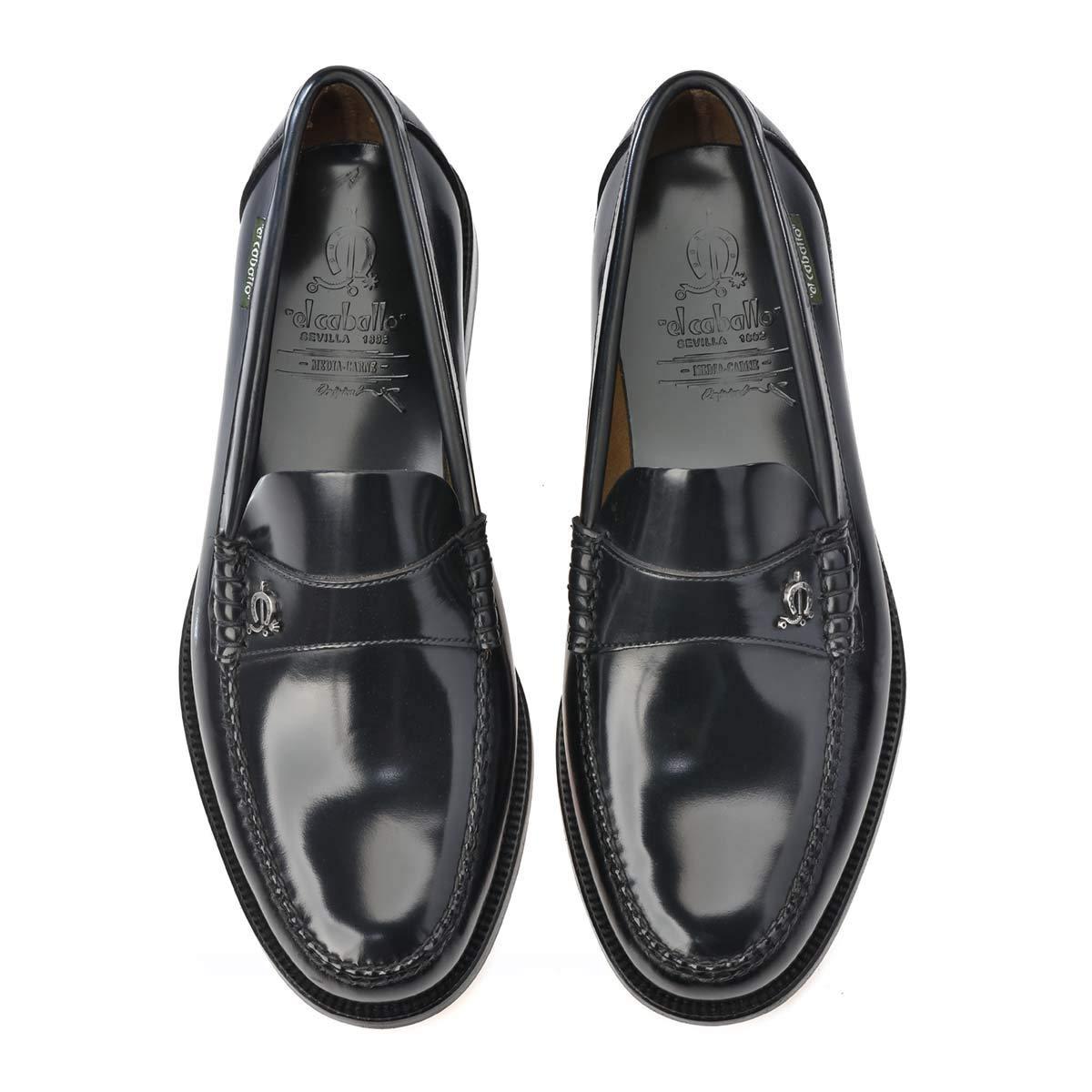 606EC Negro Talla 45 - Zapato de Hombre El Caballo 606 Negro (Talla Calzado: 45) - Otoño-Invierno 2018/28 Zapatos de Piel: Amazon.es: Zapatos y complementos