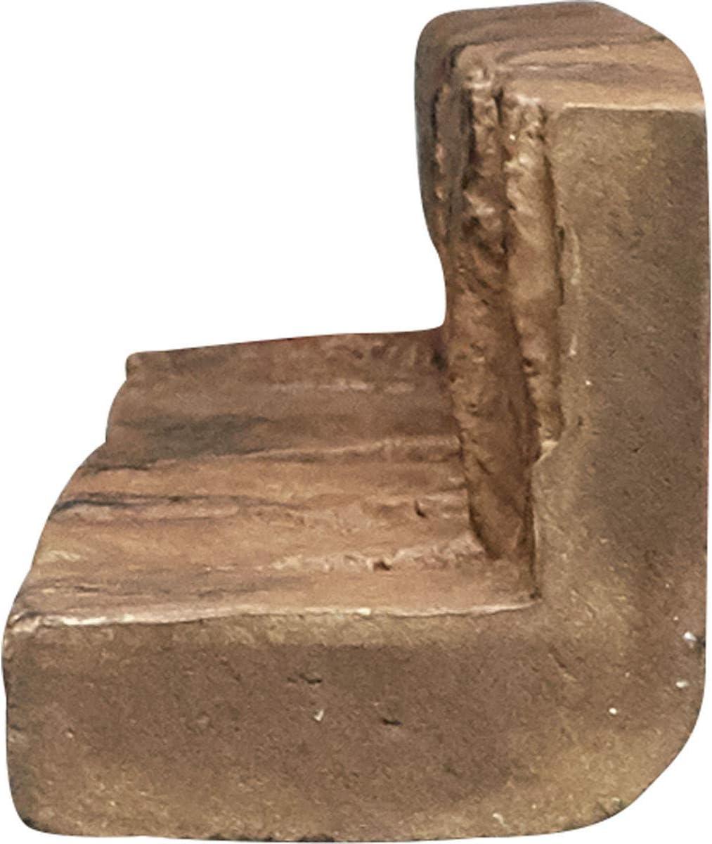 Ekena Millwork PNUIC03X48CO Universal Inside Corner Stacked Stone Stonewall Faux Stone Siding Panel 3W x 3D x 48H Colfax 1 EA