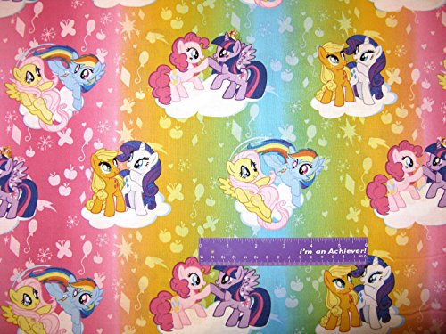 """43"""" Wide MY LITTLE PONY Ombre Toss Cotton Fabric BY THE HALF YARD"""