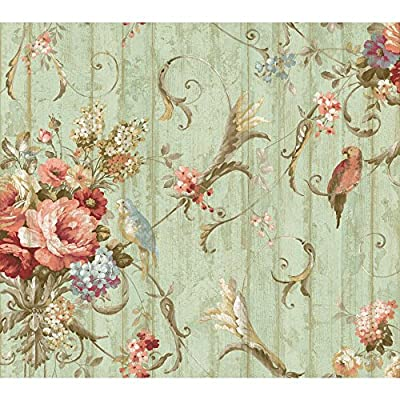 York Wallcoverings HA1326 Floral Bouquet Wallpaper - Ultra Removable