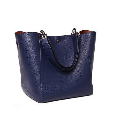 f55c390779511 Pahajim Frauen Leder Top Griff Handtaschen Schulranzen Handtasche Messenger  Pack Tasche Dunkelblau Geldbörsen und Handtaschen auf
