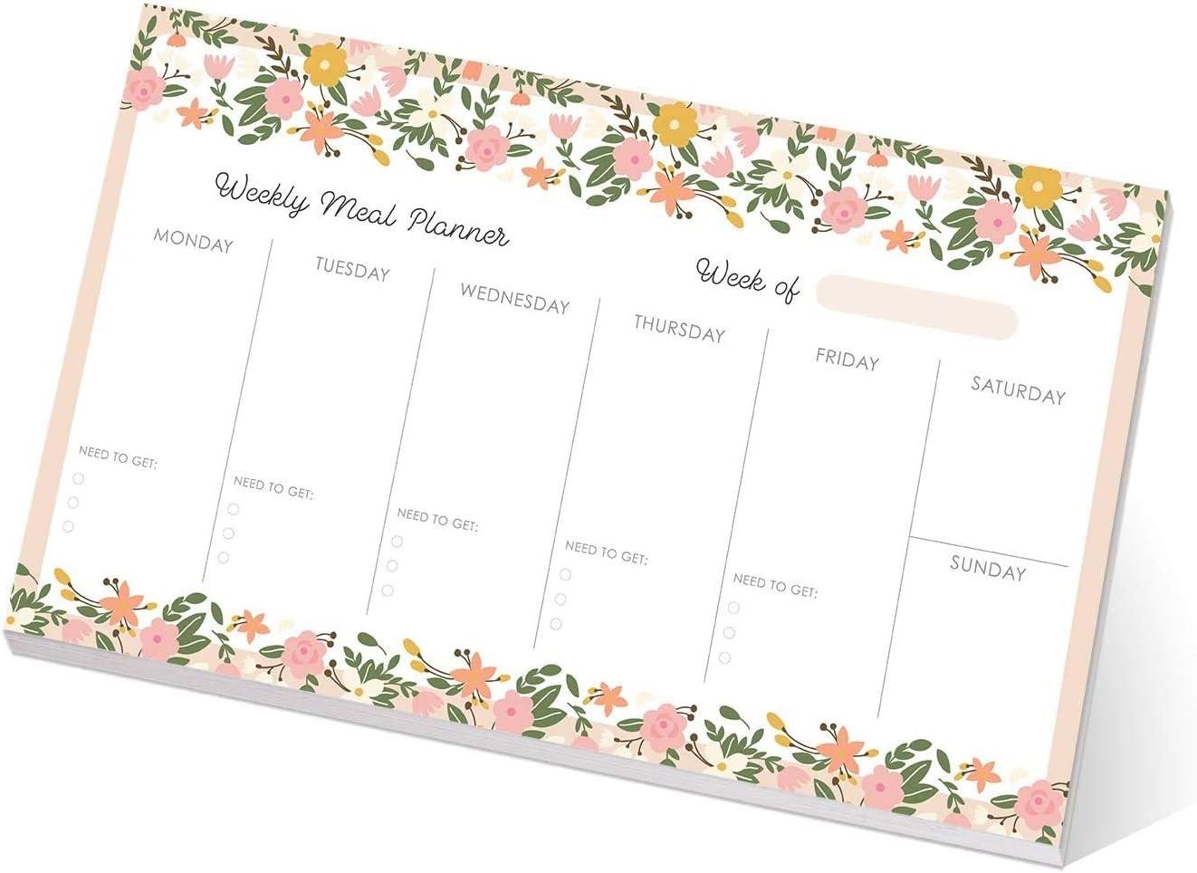 Floral Weekly Meal Planner Pad / 10