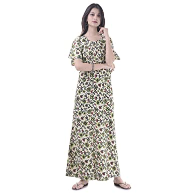 Image Unavailable. Image not available for. Color  Women Cotton Night Wear  Gown Sexy Nighties Nighty ... d4fe04aa6
