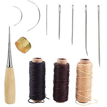 Bekannt 12 Stück Leder Craft Werkzeug,Leder Handwerk Werkzeug Handnähen WD96